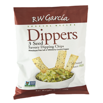 RW Garcia Dippers Special Recipe 3 Seed Savory Dipping Chips