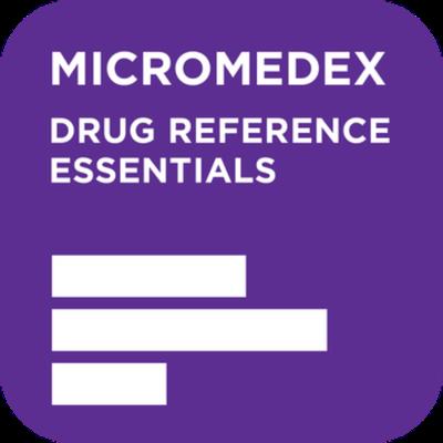 Truven Health Analytics Inc. Micromedex Drug Reference Essentials