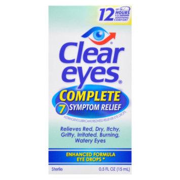 Clear Eyes Eye Drops -  Complete 7 Symptom Relief, 0.5 oz