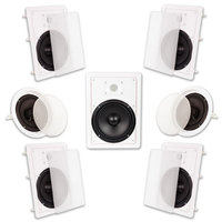 Acoustic Audio HT-87 2100 Watt 7.1CH In-Wall/Ceiling Home Theater Speaker System