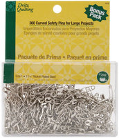 Dritz Quilting Steel Curved Basting Pins Size 1-300/Pkg