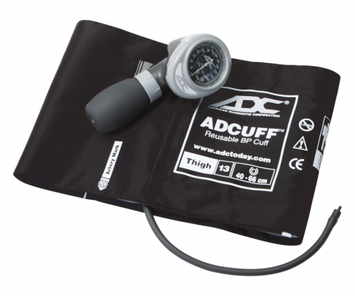 ADC Palm Style Aneroid Sphygmomanometer 703, Thigh, Black