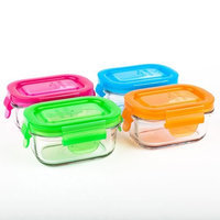 Wean Green 2-Pack Wean Tubs Glass Food Containers, Raspberry