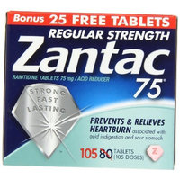 Zantac 75 Ranitidine Tablets 75 mg/Acid Reducer - 30 ea