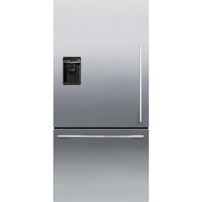 Fisher & Paykel Fisher Paykel RF170WDLUX5 17.0 Cu. Ft. Stainless Steel Counter Depth Bottom Freezer Refrigerator - Energy Star - Left Hinge