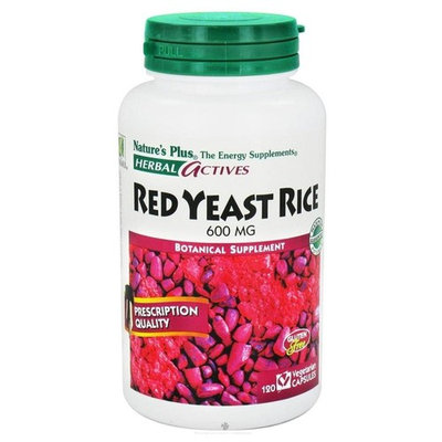 Nature's Plus Herbal Actives Red Yeast Rice - 120 - Capsule [Health and Beauty]