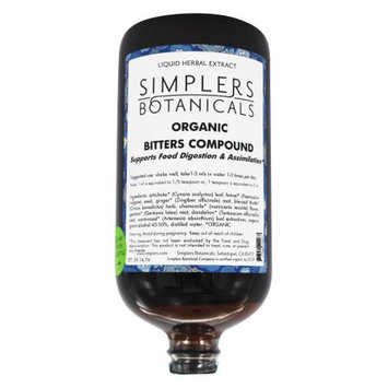 Simplers Botanicals - Organic Bitters Compound Liquid Herbal Extract - 32 oz.