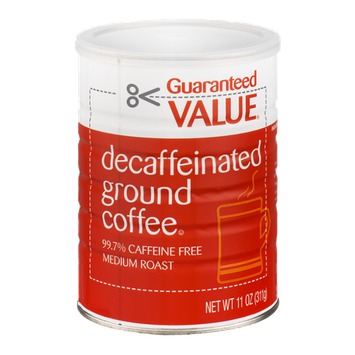 Guaranteed Value Decaffeinated Ground Coffee Medium Roast