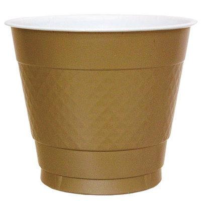 Hanna K Signature Hanna K. Signature 82980 9 Oz. Gold Plastic Cup - 600 Per Case