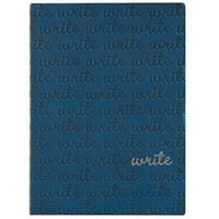 Eccolo Blue Embossed Write Writing Journal / Diary, 5x7