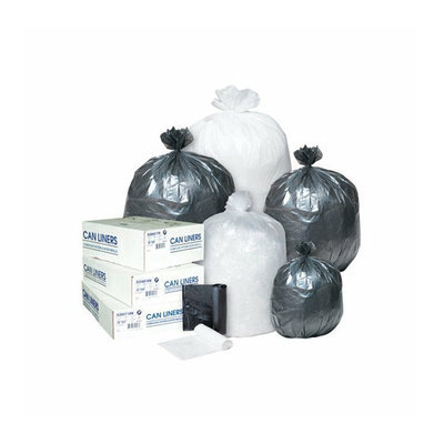 Inteplast Group 60 Gallon Low-Density Can Liner in White