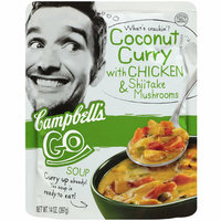 Campbell's Go Coconut Curry Soup with Chicken & Shiitake Mushrooms
