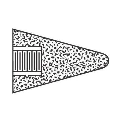 Norton Type 17R Gemini Cone Round Tips - 2/1/2x3x5/8-11 gemini 57a24-r type 17r co