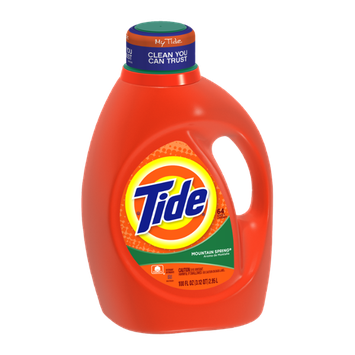 Tide Mountain Spring Scent Liquid Laundry Detergent 100 Fl Oz