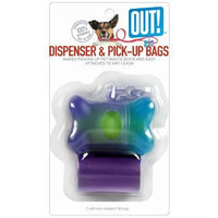 Out! Two-Tone Bone Dispenser for Dogs with 30 Waste Pick-Up Bags