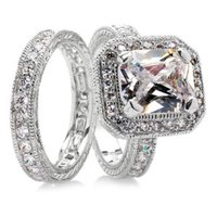 Emitations Gwendolyn's CZ Antique Engagement Ring Set