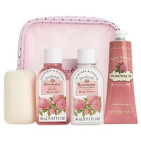 Crabtree & Evelyn Rosewater 4pc Traveller Set