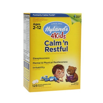 Hyland's 4 Kids Calm 'n Restful Quick-Dissolving Tablets, 125 ea