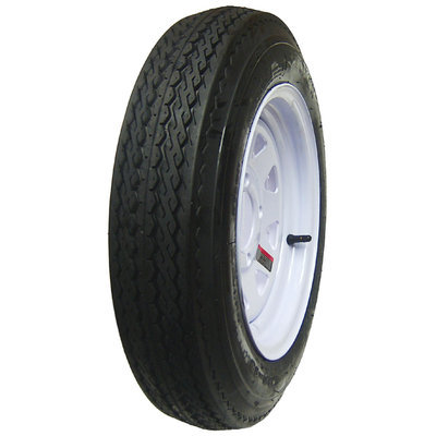 David Shaw Silverware Na Ltd HI-RUN Utility Trailer Tire/Whl Assy 480 12 4 Hole - David Shaw Silverware NA LTD