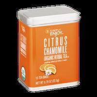 Simply Enjoy Citrus Chamomile Organic Herbal Tea Bags - 15 CT