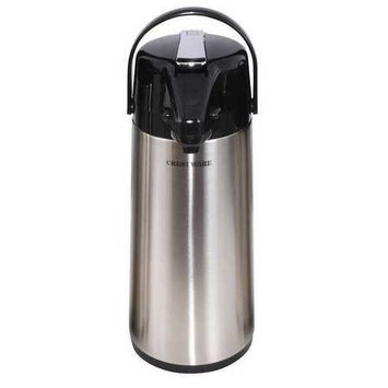 CRESTWARE APL30G Leaver Airpot, Glass Lined,3.0 Liter