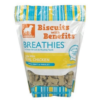 Dogswell Breathies Biscuits with Benefits - Chicken - 20 oz