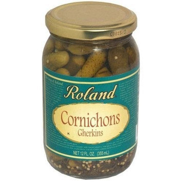 Roland Rol and Cornichons, Tiny French, 12-Ounce (Pack of 12)