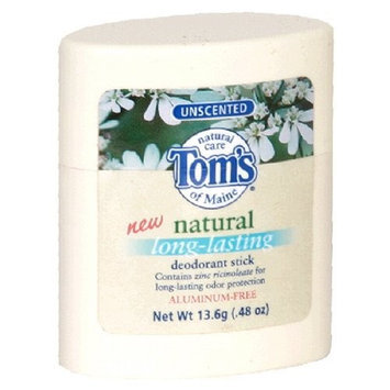 Toms Of Maine Tom's of Maine Natural Deodorant Stick, Unscented, 0.48-Ounce Stick (Pack of 12)