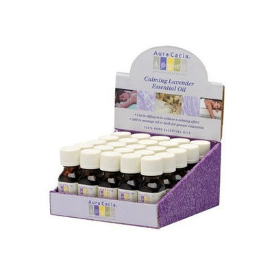 Aura Cacia 25 PC LAVENDER COUNTER DISPLAY