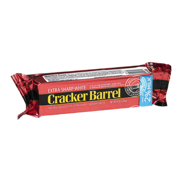Cracker Barrel Reduced Fat Cheddar Cheese Extra Sharp-White