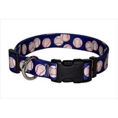 Yellow Dog Design BAS101S Baseballs Standard Collar - Small