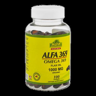 Alfa Vitamins Alfa 369 Omega 369 Flax Oil Softgels 1000 MG - 100 CT