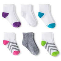 Hanes Premium Girls' Athletic Ankle Sock 6 Pack