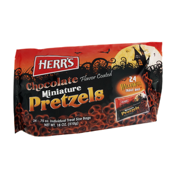 Herr's Miniature Chocolate Coated Pretzels - 24 CT