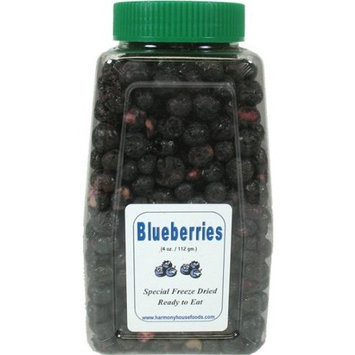 Harmony House Foods, Inc. Harmony House Foods Freeze-Dried Blueberries, whole (4 oz, Quart Size Jar)