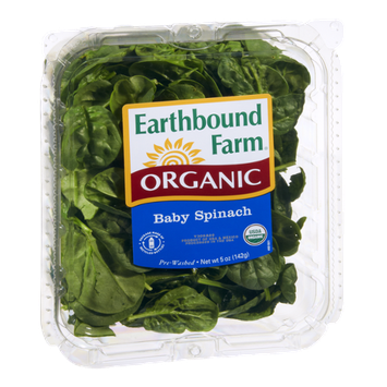 Earthbound Farm Organic Baby Spinach Salad