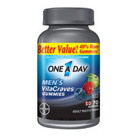 One A Day VitaCraves Men's Multivitamin Gummies, Fruit, 70 ea