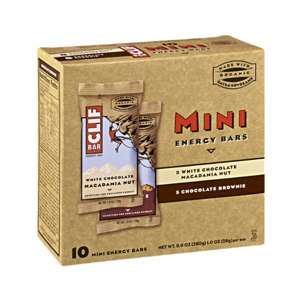 Clif Bar Energy Mini Bars White Chocolate Macadamia Nut & Chocolate Brownie