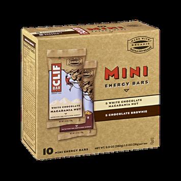 Clif Bar White Chocolate Macadamia Nut & Chocolate Brownie Energy Mini Bars - 10 CT