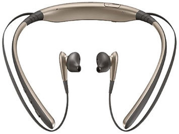Samsung - Mobile Accessories Samsung Level U Wireless Headphones, Gold - Stereo - Gold - Wireless - Bluetooth - Behind-the-neck, Earbud - Binaural - In-ear