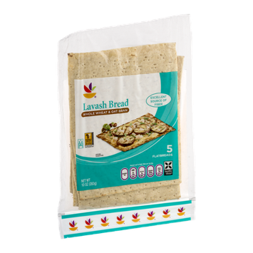 Ahold Lavash Bread Whole Wheat & Oat Bran - 5 CT
