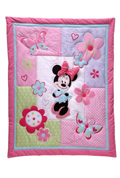 Crown Crafts Infant Products, Inc. Disney Baby Minnie Mouse 4PC Crib Set (No Bumper) - CROWN CRAFTS INFANT PRODUCTS, INC.
