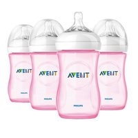 Avent Natural 9 oz Pink Bottle, Polypropylene