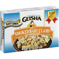 Geisha Smoked Fancy Clams in Cottonseed Oil, 3.75 oz
