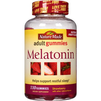 Nature Made Melatonin Strawberry Adult Gummies Dietary Supplement, 110 count