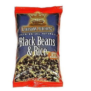 Louisiana Purchase Black Beans & Rice, 8-Ounce (Pack of 12)