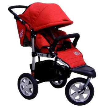 Tike Tech Single City X3 Swivel Stroller - Alpine Red
