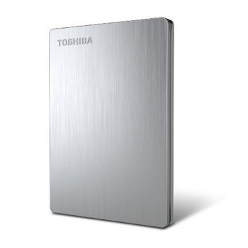 Toshiba Canvio 500 GB Slim Portable External Hard Drive - Silver (HDTD105XS3D1)