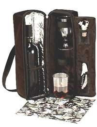 Picnic Gift 2025-GR Solana Wine Tote - Green