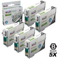 LD Epson Remanufactured T127 Set of 5 Extra HY Ink Cartridges: 5 Black T127120 for Stylus NX530, NX625, WorkForce 3520, 3530, 3540, 7010, 7510, 7520, 60, 545, 630, 633, 635, 645, 840 & 845 Printers